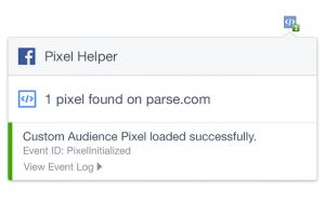 Facebook pixel helper validation
