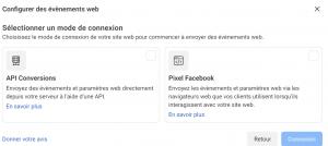 choisir pixel facebook