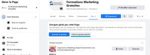 Creer un groupe Facebook a partir dune page