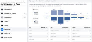 statistiques audience page facebook